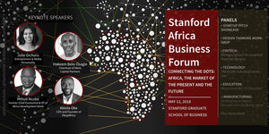 Two Kenyans at Stanford Africa Business Forum.