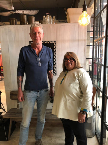 Anthony Bourdain in Kenya with Ninaa Shanghavi, Owner Nyama Mama,