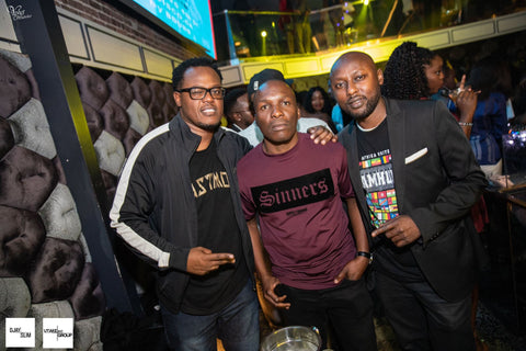 Michael Wanguhu of Black Medley, DJ EDU #AFROBOSS & Kimathi of Jamhuri Wear #IAFRICASF San Francisco California