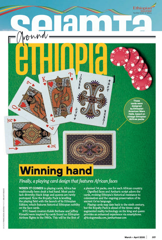 Royalty Pack Deck of Cards Selamta Ethiopian Airlines