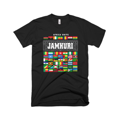 Africa Unite black t-shirt Jamhuri Wear