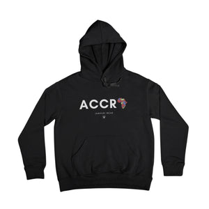 A for Africa Black Accra All City Premium Hoodie on flat background by Jamhuri Wear african fashion
