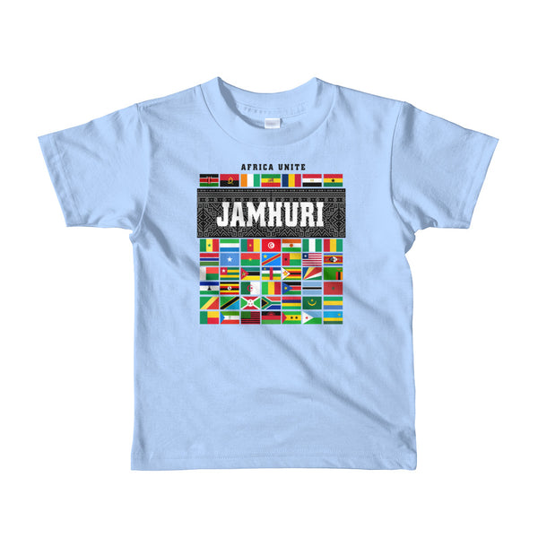 Africa Unite Kids Girls Baby Blue T-shirt Jamhuri Wear