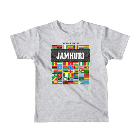Africa Unite Kids Gray T-shirt Jamhuri Wear