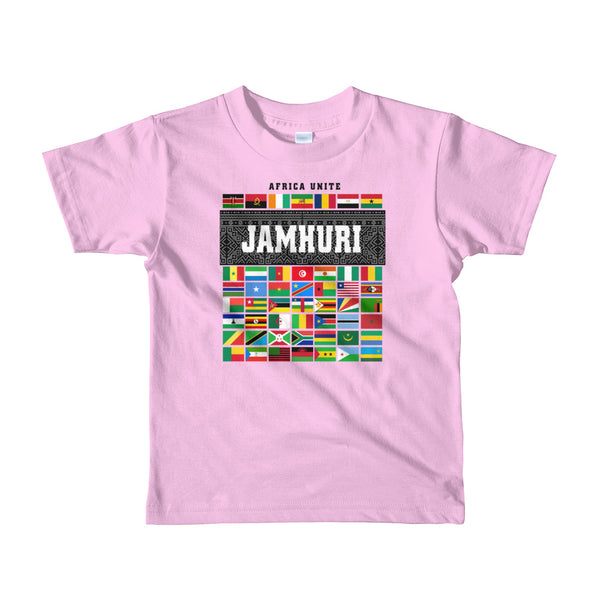 Africa Unite Kids Girls Pink T-shirt Jamhuri Wear