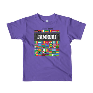Africa Unite Kids Girls Baby Purple T-shirt Jamhuri Wear