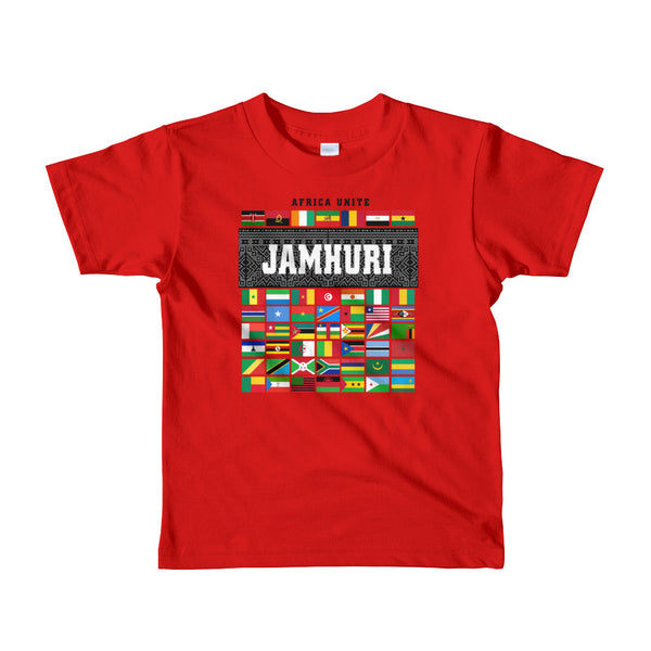 Africa Unite Kids Red T-shirt Jamhuri Wear