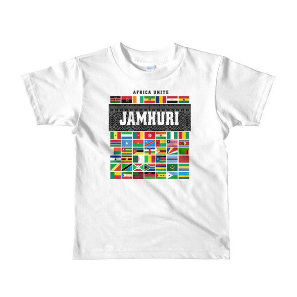 Africa Unite Kids White T-shirt Jamhuri Wear
