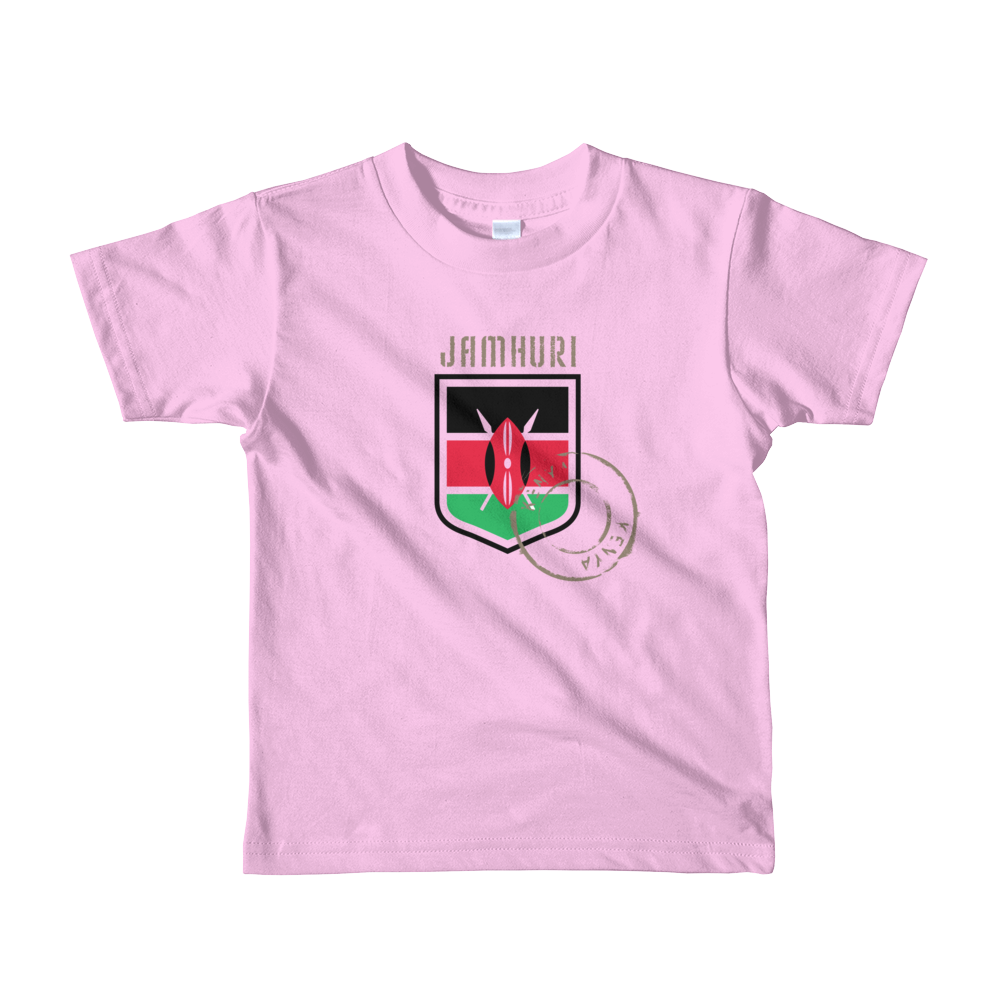 Toto Kids Pink Girls Kenya Badge T-shirt - jamhuriwear.com