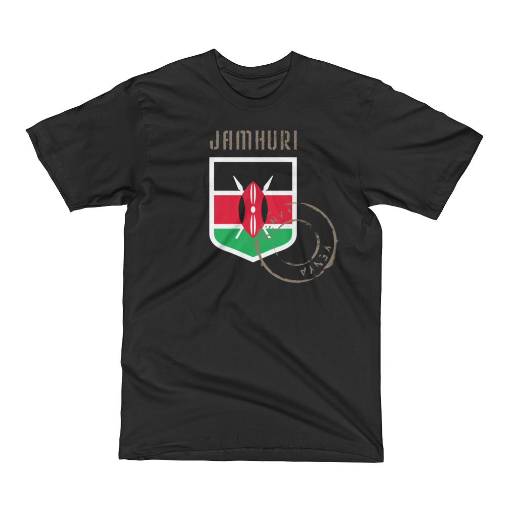 Kenya Badge of Honor Mens T-shirt. - jamhuriwear.com