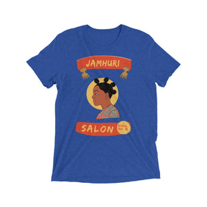 Bantu Knots Matuta Natural Hair Salon Ladies T-shirt - jamhuriwear.com