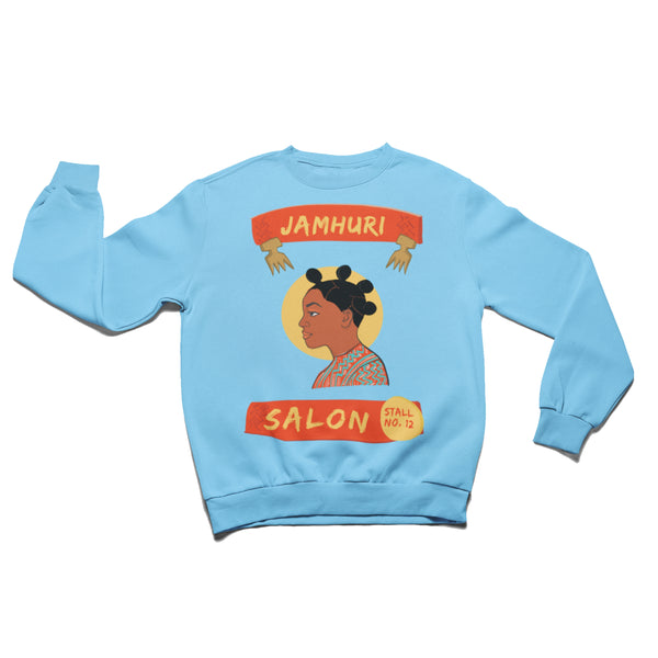 Bantu Knots Matuta Natural Hair Salon Ladies Crewneck - jamhuriwear.com