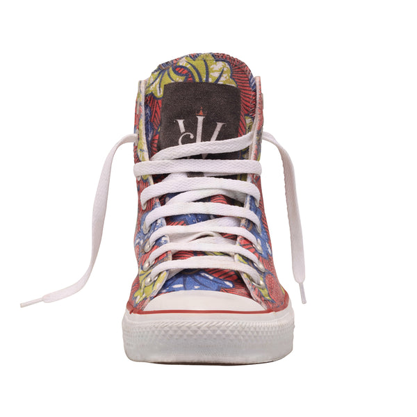 Ankara All-star Limited Edition Converse Chucks Sneakers High by Jamhuri Wear