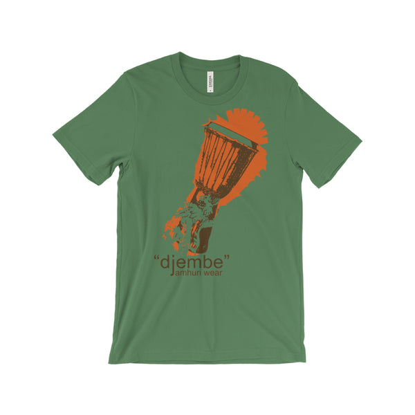 Djembe Drum Africa leaf green T-shirt