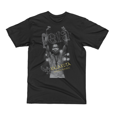 Jamhuri Wear Fela Kuti Kalakuta Republic Black T-shirt.