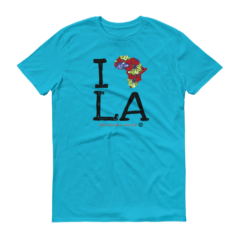 JAMHURI WEAR I AFRICA LOS ANGELES NAIROBI BLUE T-SHIRT