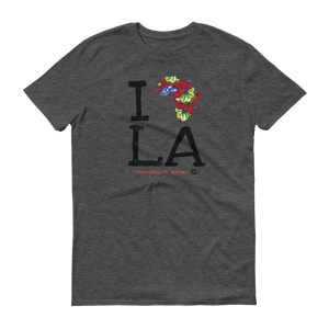 I AFRICA L.A LOS ANGELES HEATHER GREY T-SHIRT