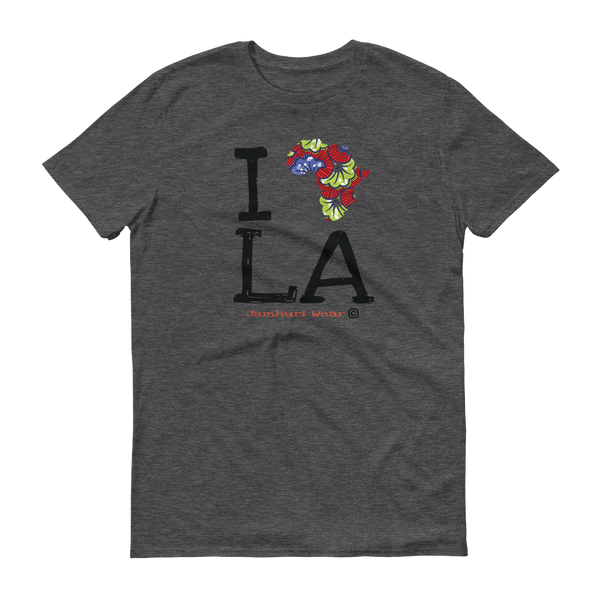 JAMHURI WEAR I AFRICA LOS ANGELES HEATHER GREY T-SHIRT