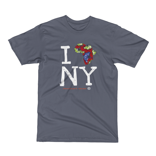 I Africa N.Y New York Ankara TEE GREY t-shirt