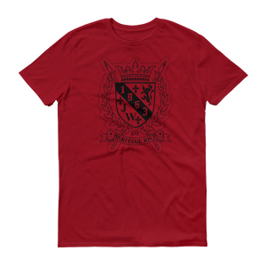 Heritage rich crest independence red shield tshirt
