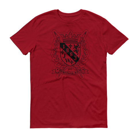 Jamhuri Wear heritage rich crest independence red shield tshirt