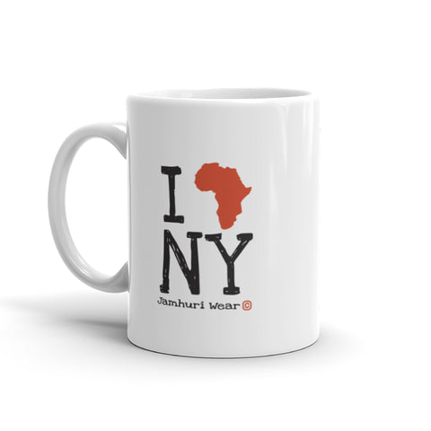 I AFRICA N.Y (New York) white Mug BY JAMHURI WEAR