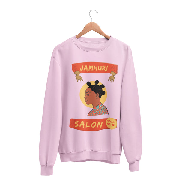 Bantu Knots Matuta Natural Hair Salon Ladies Crewneck