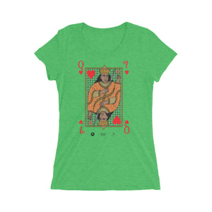 Queen of hearts Royal tee short sleeve green t-shirt