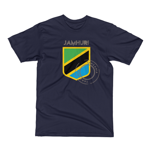 Jamhuri Wear Tanzania Badge of Honor Navy T-shirt