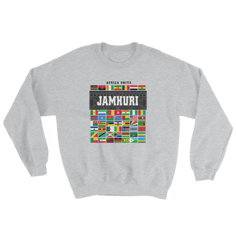 Africa Unite Crewneck Sweater by Jamhuri Wear