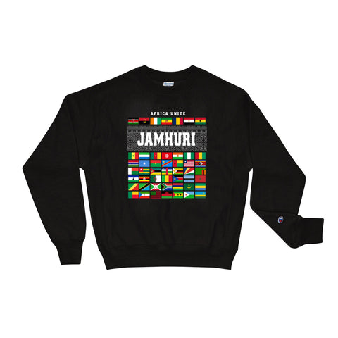 Africa Unite Limited Edition Champion Black Crewneck