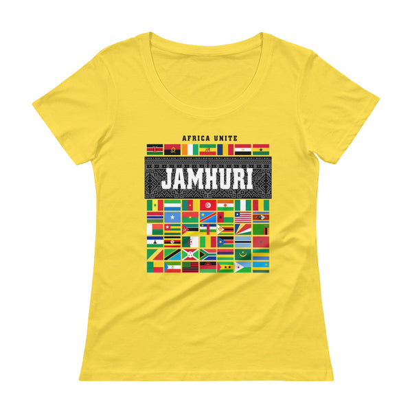 Africa unite Ladies t-shirt by Jamhuri Wear