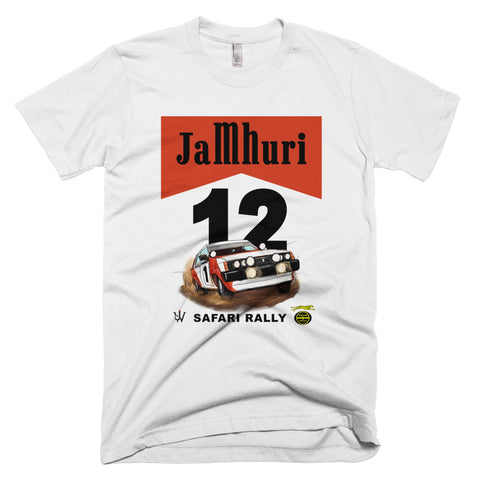 Safari Rally Retro White T-shirt Jamhuri Wear