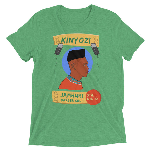 Kinyozi Barber Box Cut Retro T-shirt - jamhuriwear.com