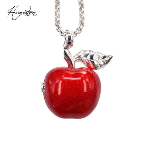 Thomas locket openable red apple pendant necklace applelatino thomas locket openable red apple pendant necklace jewelry mozeypictures Image collections