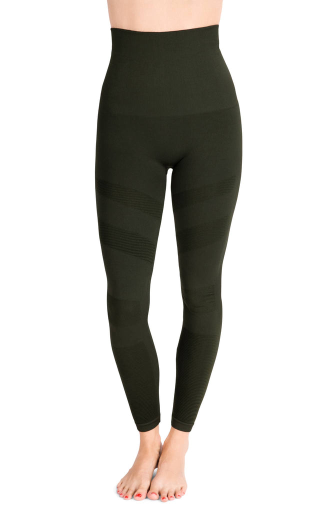 Belly Bandit - Mother Tucker Moto Leggings - Olive Green