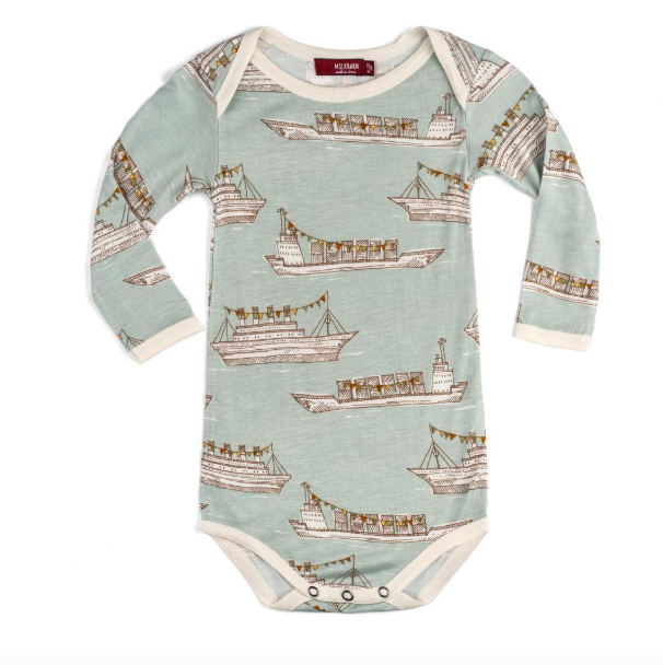 Bamboo LS One Piece Blue Ships