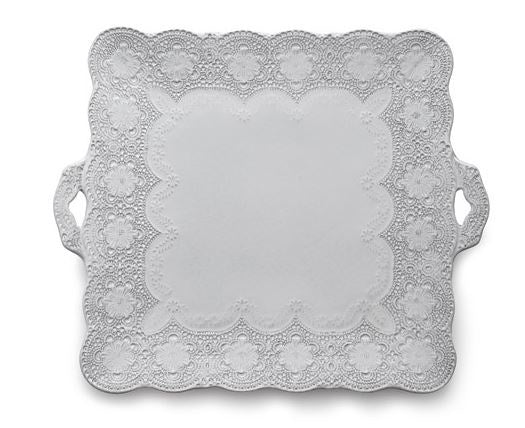 Merletto White Square Platter