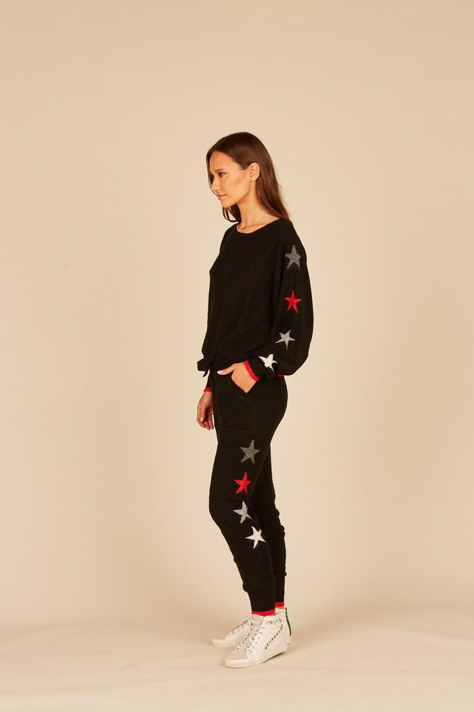 Black Star Knit Jogger