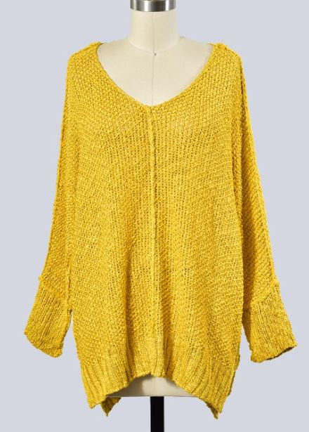 Everly Mustard Sweater