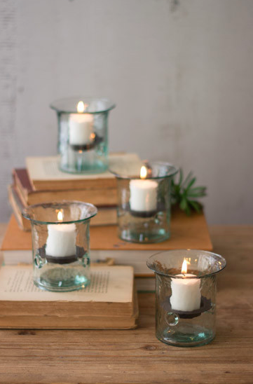 Recycled Mini Glass Votives