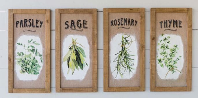 Herb Framed Prints- SET OF 2