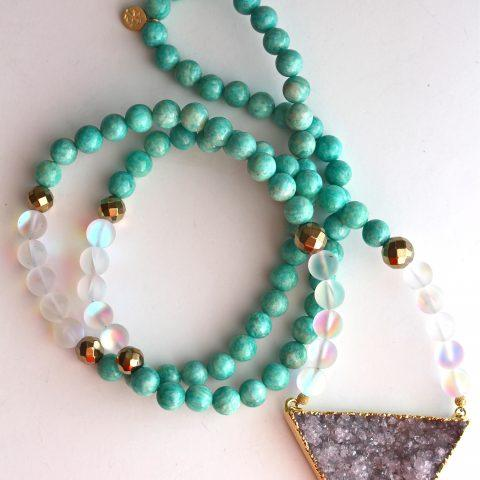 Turquoise Moonstone Necklace