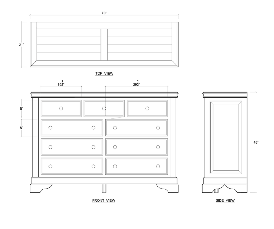 Homestead Dresser 9 Drawer