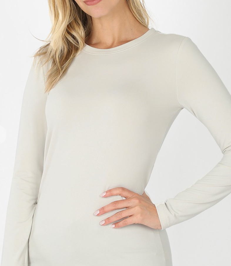 Khloe L/S Round Neck Top