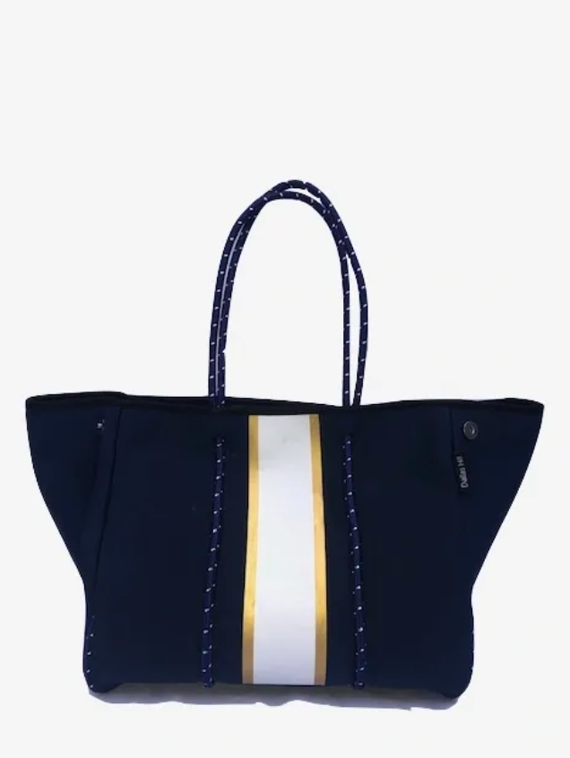 Blue w White/Gold Tote