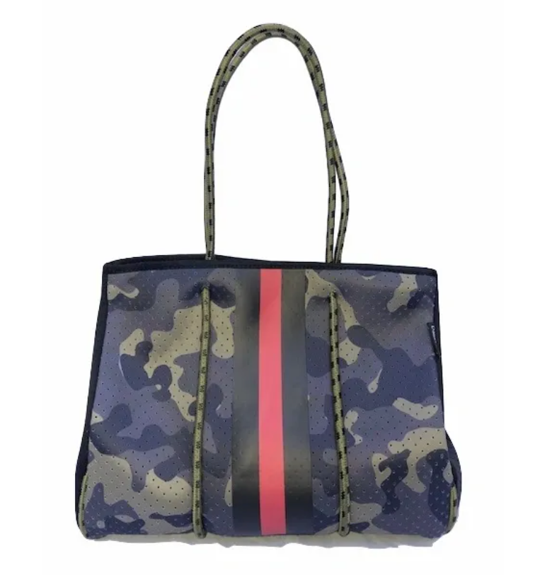 Green Camo w Blk/Red Tote