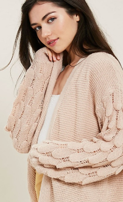 Zoey Open Cardigan