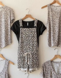 The Multi Leopard Overall Short