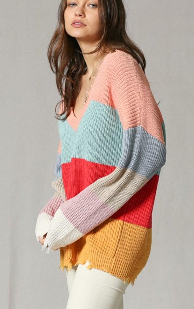 Mary Multi Color Sweater